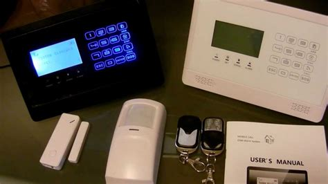 gsm wireless home alarm system touch panel overview www