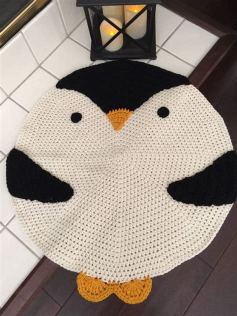 penguin rug crochet animal rugs beautiful patterns the whoot