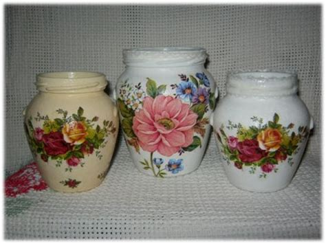 Decoupage On Glass Jars - decoupage jars decoupage glass jars and tins