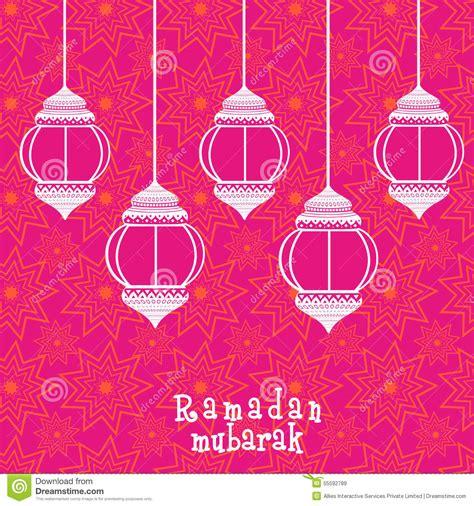 Arabic Pink ramadan kareem celebration with arabic ls or lanterns