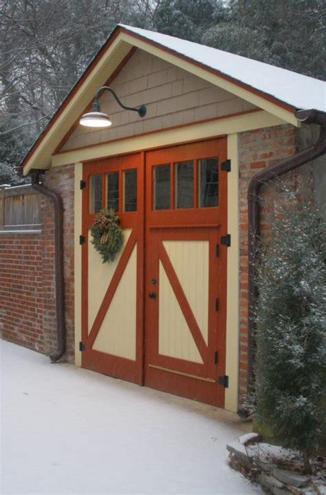 Exterior Shed Doors These Split Doors And Paint Style On Doors And Garage Trim Details Studio Building