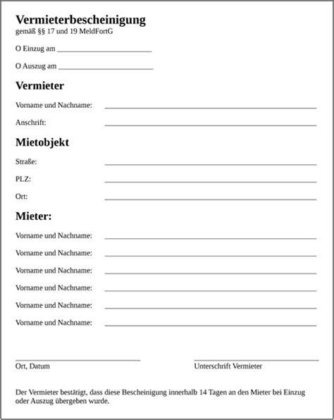 mietbescheinigung vorlage kostenlos vorlagen 1001