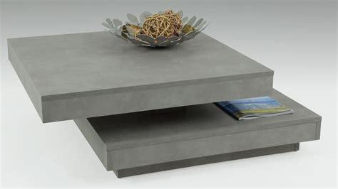 platte betonoptik couchtisch ben in betonoptik tisch drehbare platte