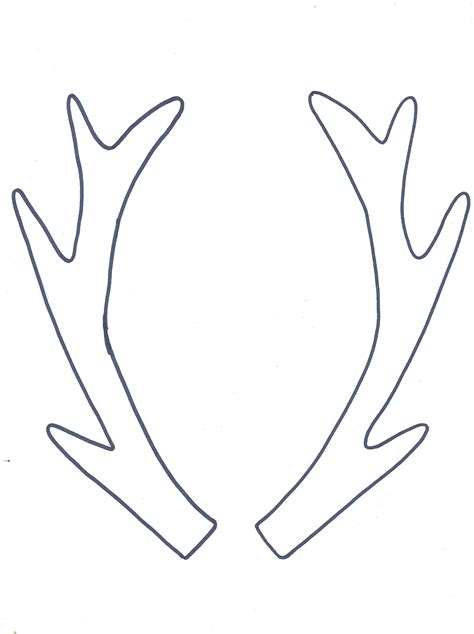 printable reindeer antlers pattern free coloring pages of antlers template