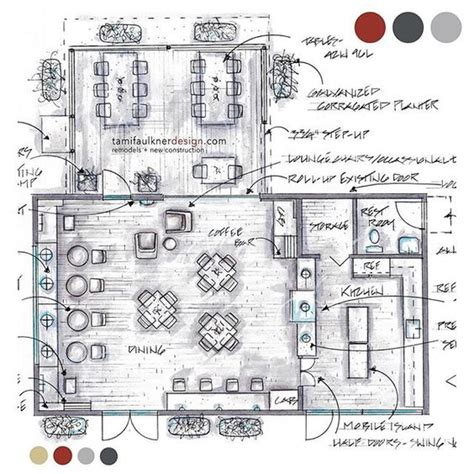 cafe store layout coffee shop floor plans and floors on pinterest
