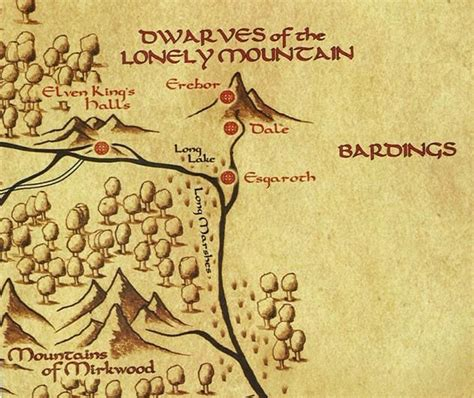 This Lonely Earth middle earth map the lonely mountain www imgkid