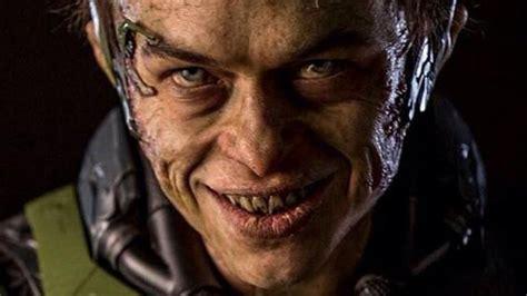 green goblin actor amazing spider man 2 nasty look at green goblin from amazing spider man 2