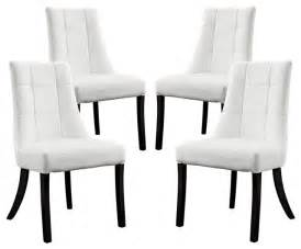 noblesse vinyl dining chair set of 4 dining chairs by lexmod