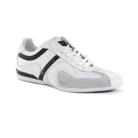 hugo mens sneakers hugo seamon lace up sneakers in white for lyst