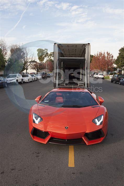 Lamborghini Aventador Trailer Sports Car Transport Lamborghini Aventador Corsia Logistics