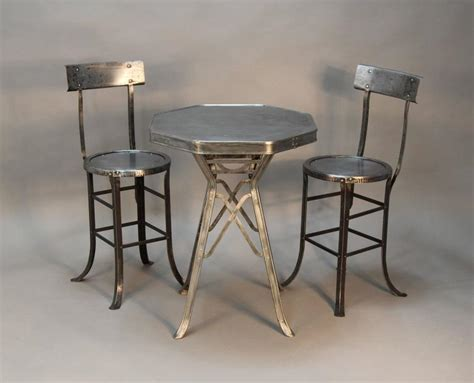 Industrial Dining Room Set Industrial Bistro Table And Chair Set At 1stdibs