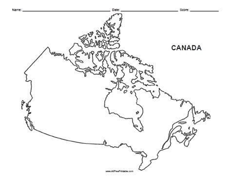 blank map of canada for geography blank map of canada