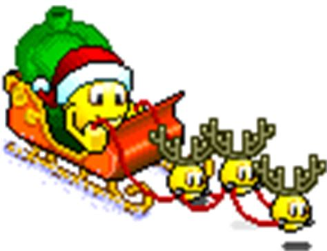 animated holiday emoticons santa s sleigh emoticon emoticons and smileys for msn skype yahoo