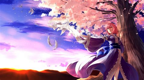 imagenes anime en hd pink flowers anime download hd wallpapers