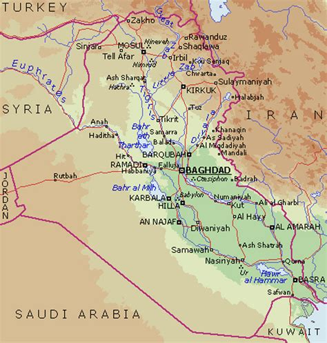 rivers in iraq map theniceboy rivers in iraq