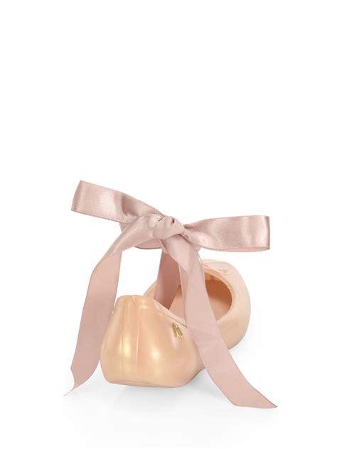 Mellisa Ribbon Ballerina 1801 1 silk ribbon ballet flats in pink lyst