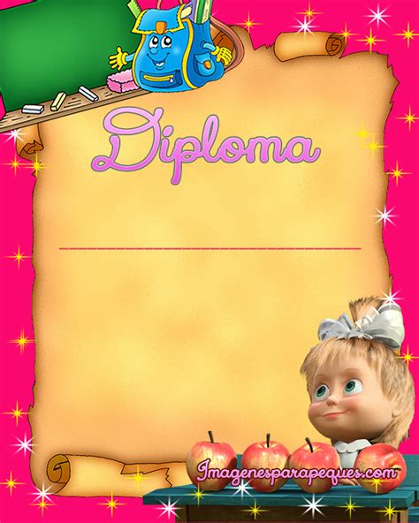 imagenes infantiles egresados diplomas para ni 241 os egresados con personajes infantiles