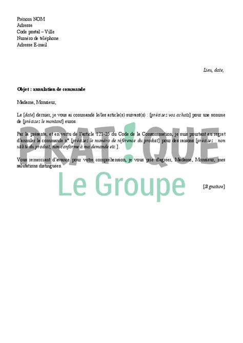 Lettre D Annulation De Demande De Visa lettre d annulation d une commande pratique fr