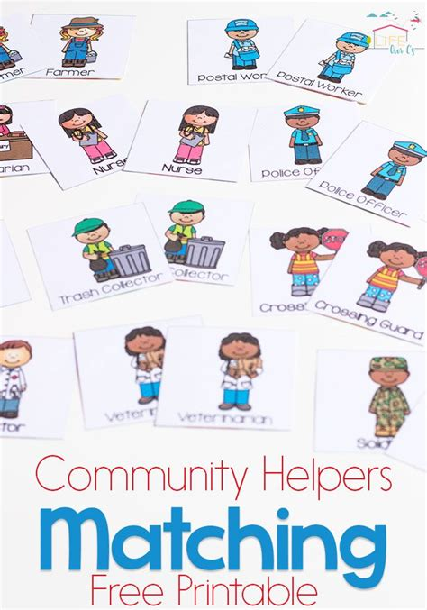 kindergarten activities community helpers community helpers matching game for preschoolers