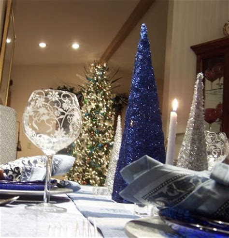tablescaping blue and silver tablescape to celebrate the