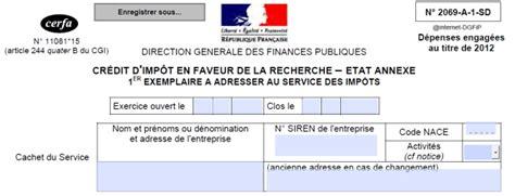 Formulaire Credit Impot Recherche Cir 15 Avril 2013 D 233 Clarer Ses Cr 233 Dits Imp 244 Ts Recherche 2012 Les Echos Business