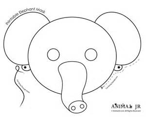 Elephant Mask Template by 10 Cutest Animal Masks Templates Black White To Color For
