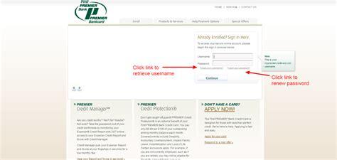 First Premier Bank Credit Card Online Login   CC Bank