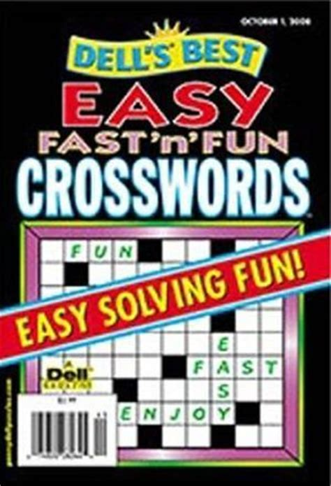 easy crossword puzzles subscription dell easy fast n fun crosswords magazine best subscription