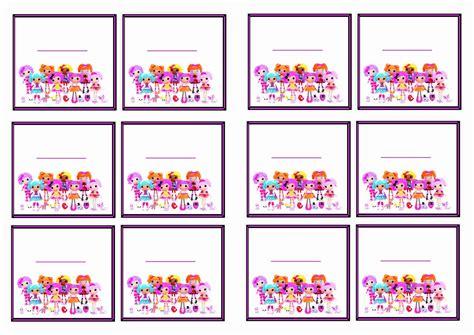 free printable lalaloopsy invitation template lalaloopsy name tags birthday printable