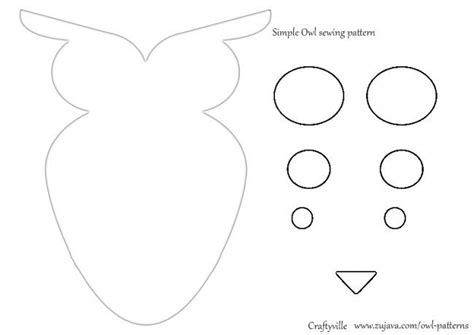 printable owl pillow pattern owl sewing pattern sewing ideas pinterest sewing