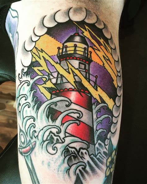 traditional lighthouse tattoo best 25 traditional lighthouse ideas on