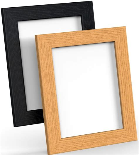 Wood Frame Poster 228 black white oak picture frame poster photo frame wooden effect various sizes ebay