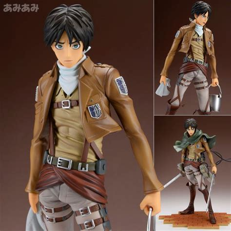 Wcf Attack On Titan Volume 1 Eren Mikasa Levi brave act attack on titan eren yeager cleaning edition 1 8 figure sentinel collectibles