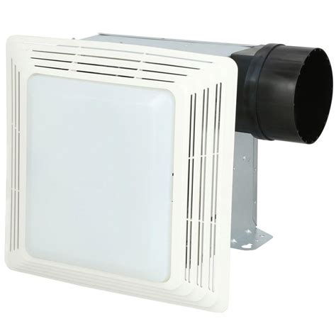 bathroom exhaust fan with light home depot 50 cfm ceiling exhaust bath fan with light 678 the home