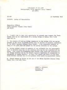 letter of appreciation oct 1970 letter of commendation sep