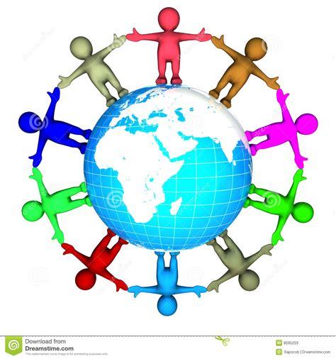 clipart mondo anello dei bambini intorno al mondo illustrazione di stock