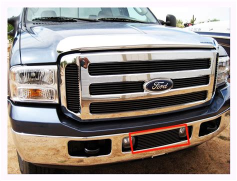 fit 2005 2007 ford f 250 f 350 f 450 f 550 super duty bumper billet grille black