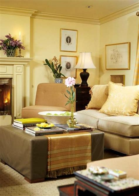 yellow color schemes for living room paint colors for home staging cream beauty adding warmth