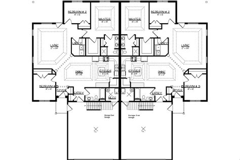 twin home floor plans twin home floor plans