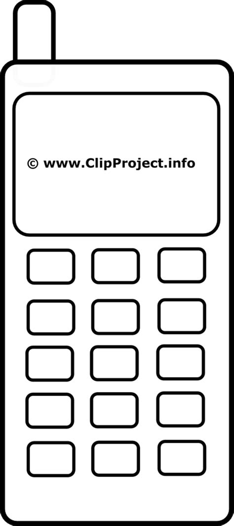 Clipart mobile telephone