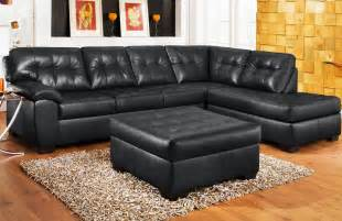 Red Bonded Leather Sofa Black Couch Black Sectional Couch