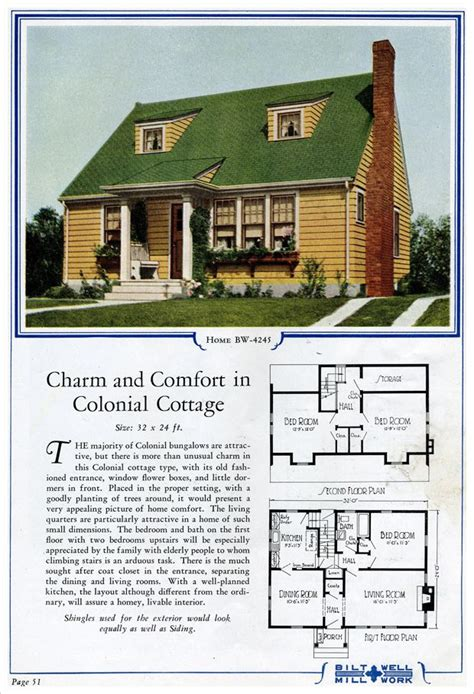 family home plans com bw 4245 bilt well homes of comfort 1924 house exteriors