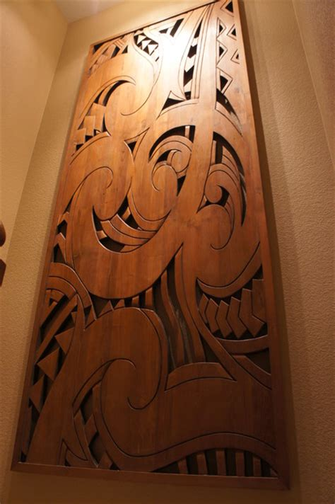 polynesian home decor wood wall art
