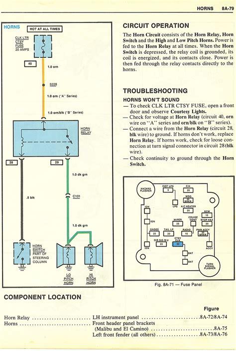 monte wiring diagram  gbodyforum   general motors ag body community