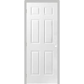29 Inch Interior Door by Shop Reliabilt 6 Panel Hollow Textured Molded