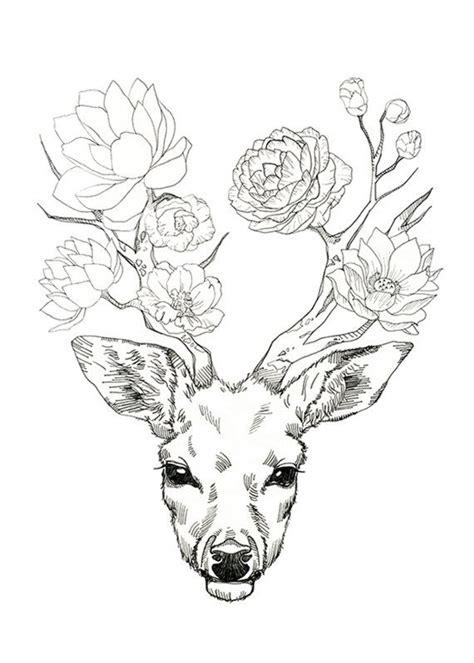 le hirschgeweih les 25 meilleures id 233 es de la cat 233 gorie tatouage de cerf
