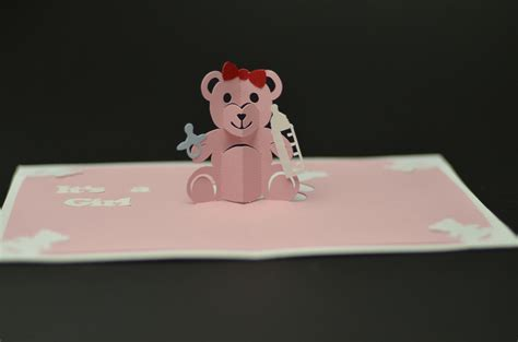 easy pop up card templates teddy pop up card template creative pop up cards