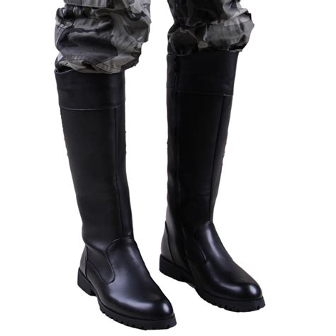 knee high mens leather boots high boots for cr boot
