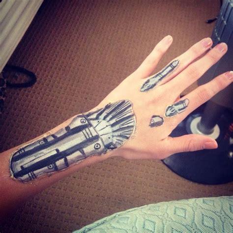 hand tattoo makeup terminator hand makeup special effects halloween