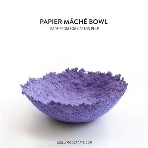 Paper Pulp Craft - mollymoocrafts papier mache bowls make from egg pulp